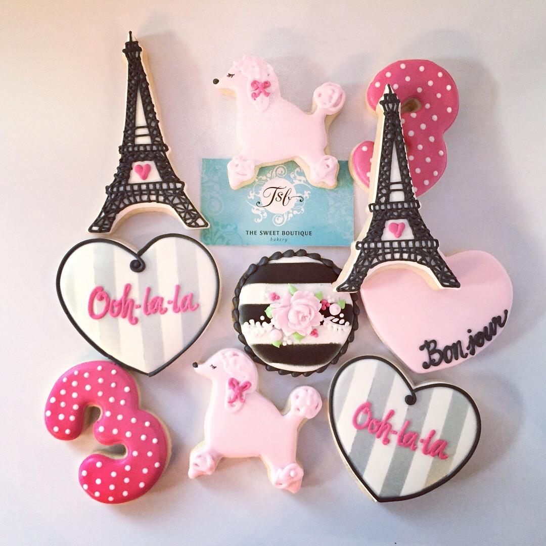 Paris/Eiffel Tower Cookies