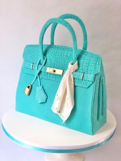 Hermes Purse Custom Cake