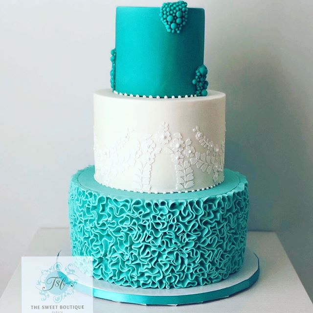 Ruffle/Lace Wedding Cake Design