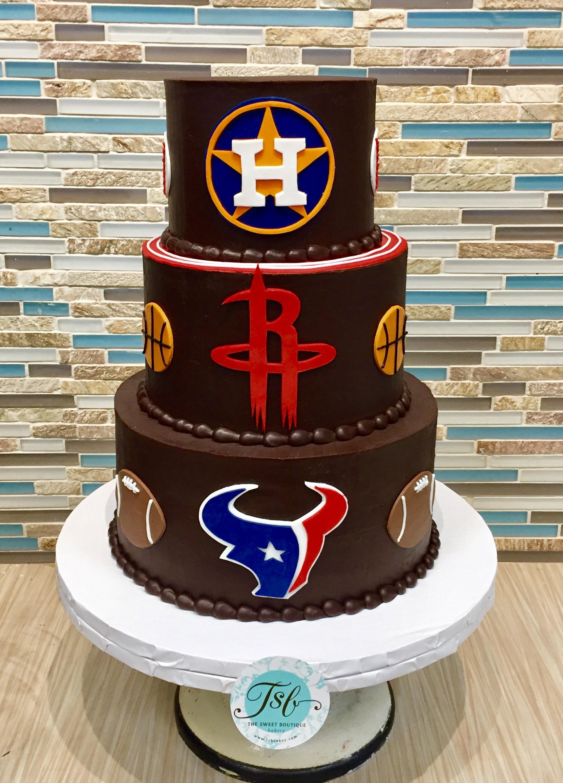 Sports Teams Grooms Cake