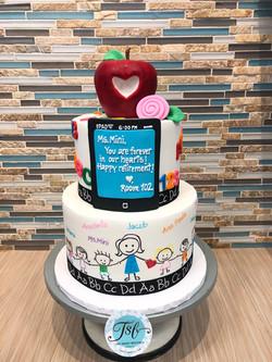 Teacher Retirement Celebration Cake