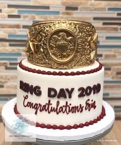 Texas A&M Ring Day Cake