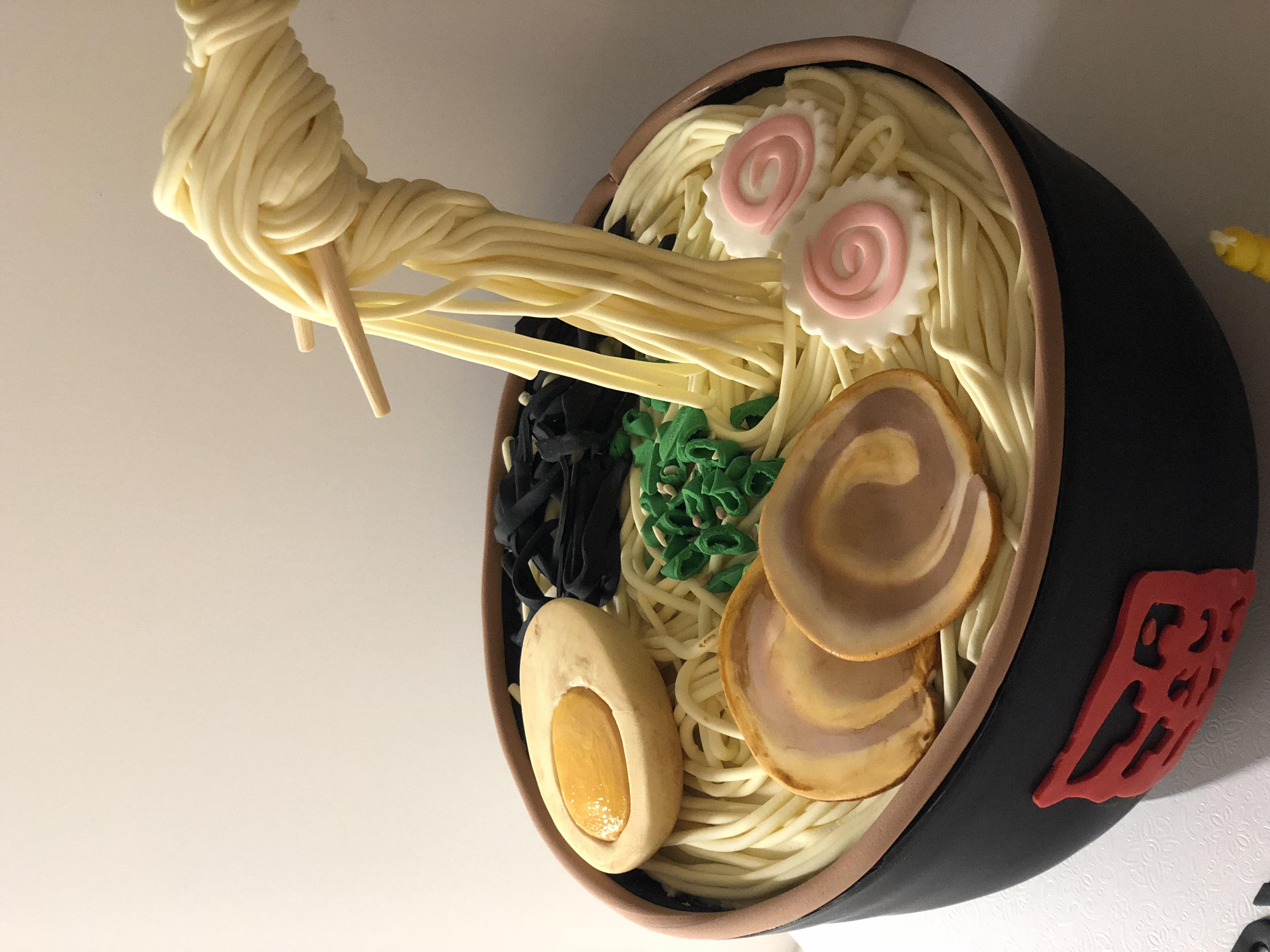 Ramen Bowl Grooms Cake