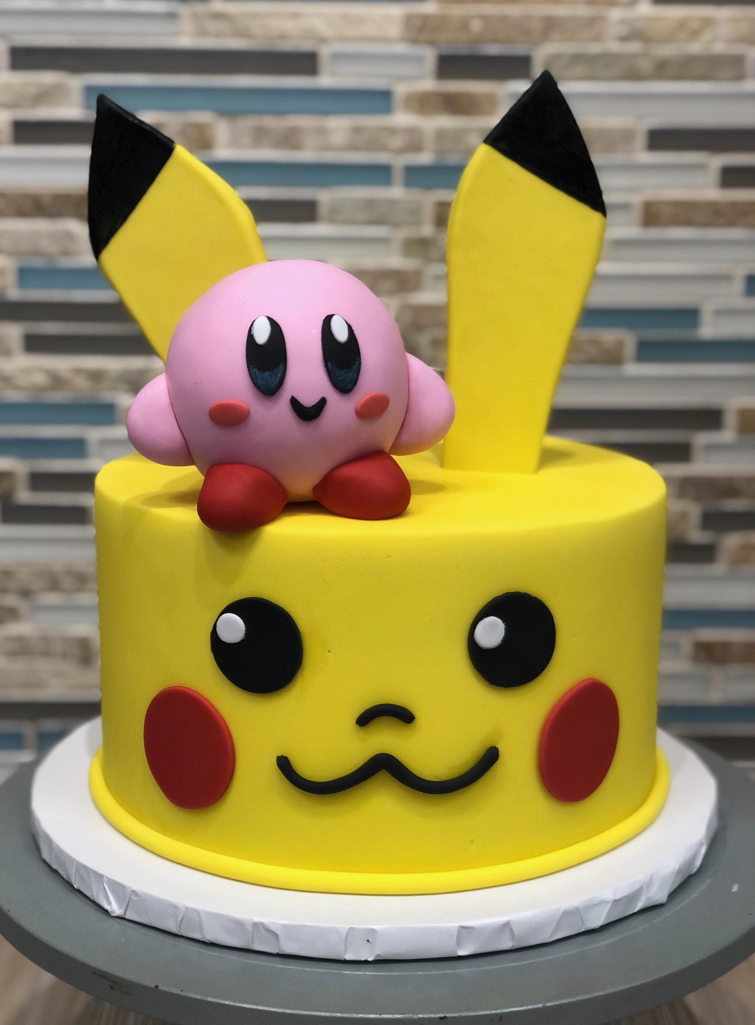 Pikachu & Kirby Cake