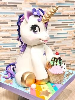 3D Sculpted Unicorn Cake