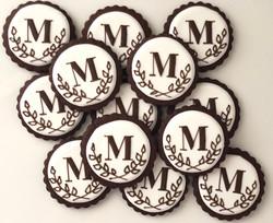 Wedding Monogram Cookies