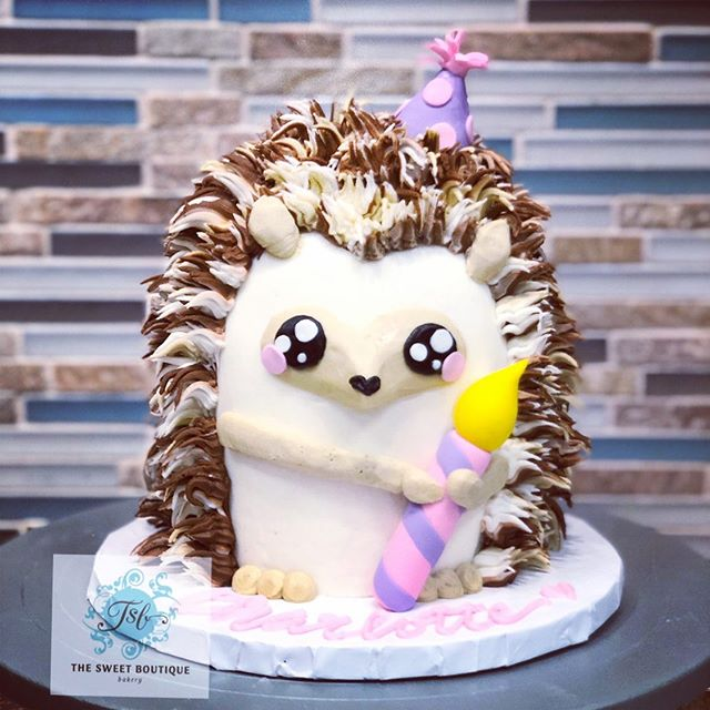 Hedgehog Smash Cake