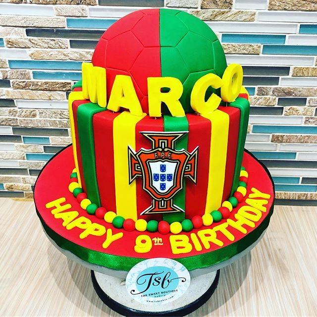 Portugal Soccer birthday Cake