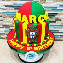Portugal soccer cake for a huge fan!  #s