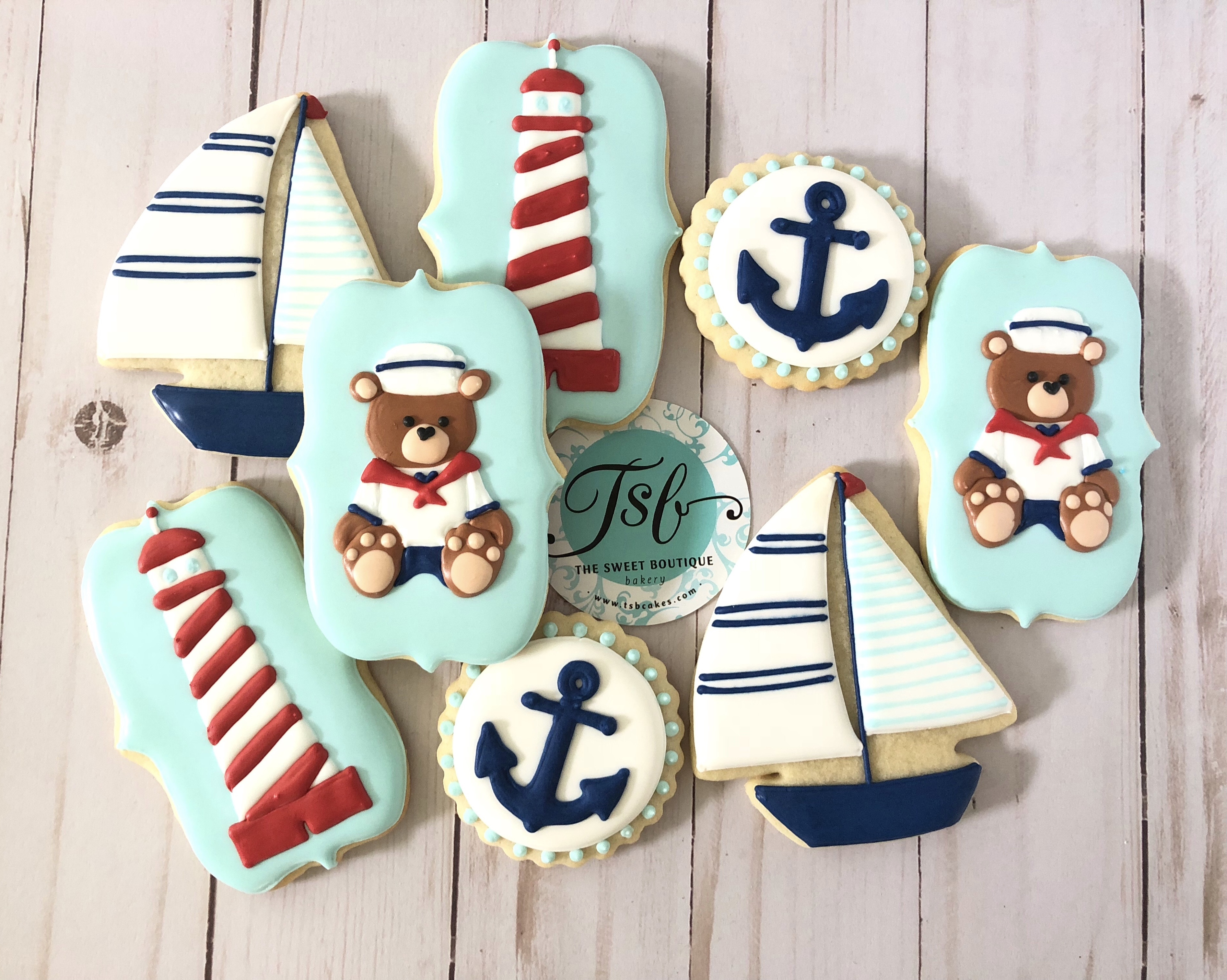 Sailor/Nautical Cookies