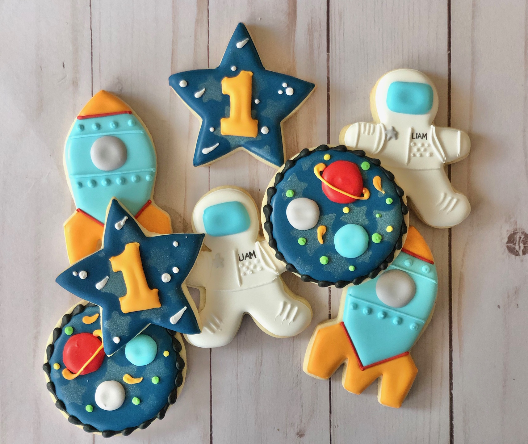 Outer Space Custom Cookies