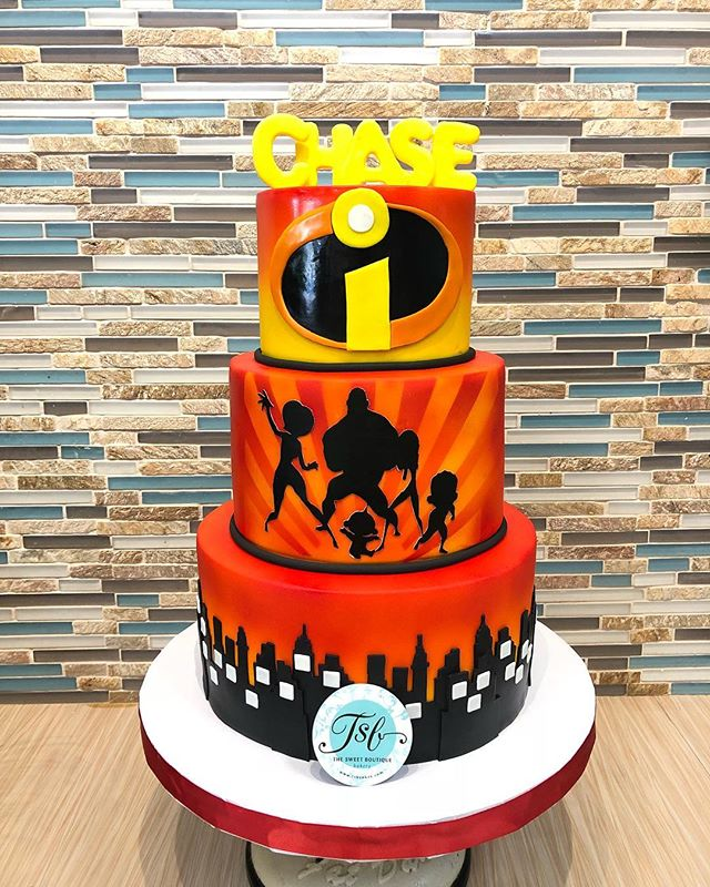 Incredibles Birthday Cake