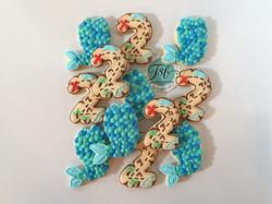Pirate and Mermaid Birthday Cookies