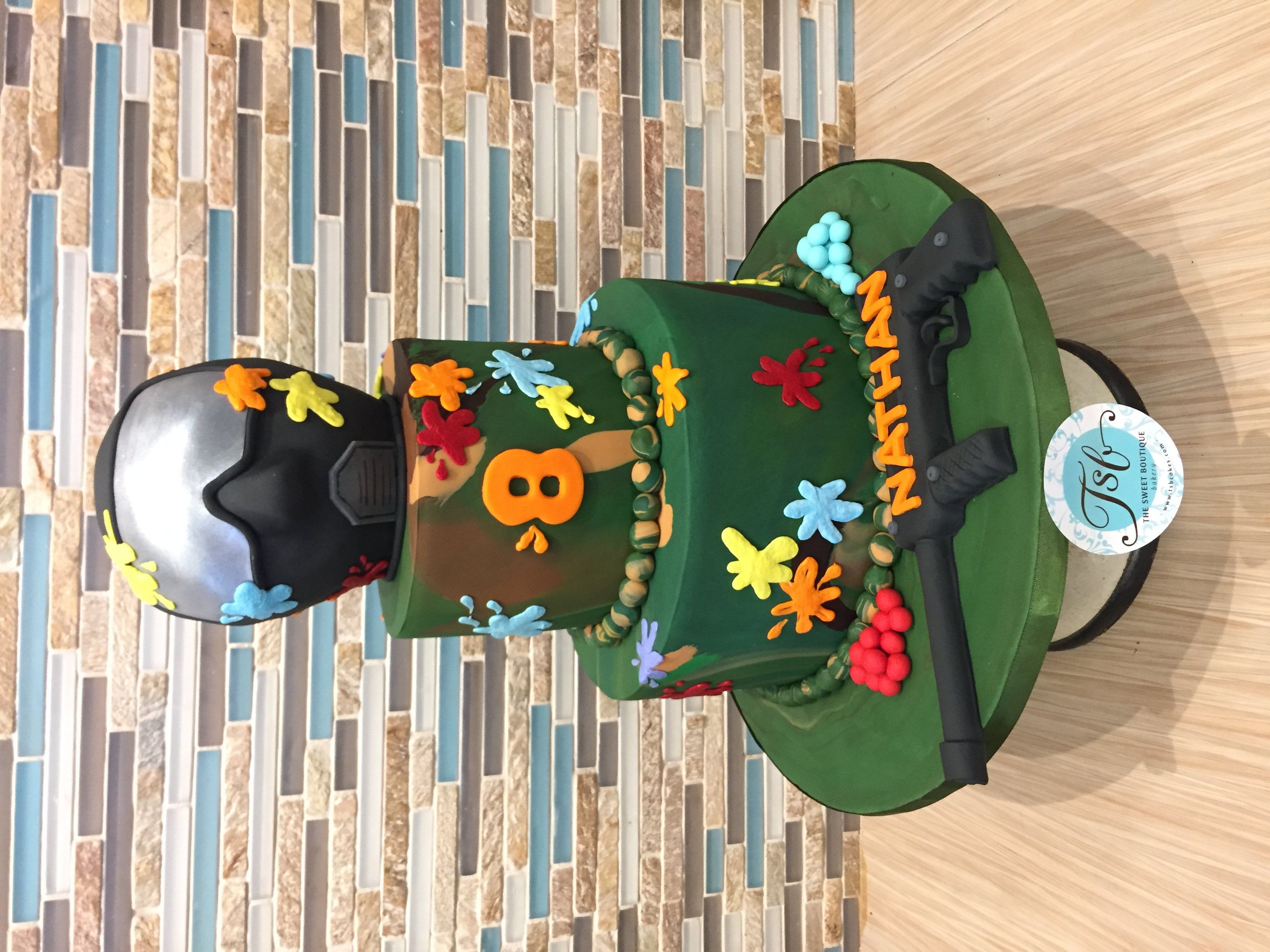 Paintball Birthday Cake