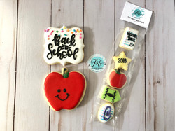 Back to school cookie set