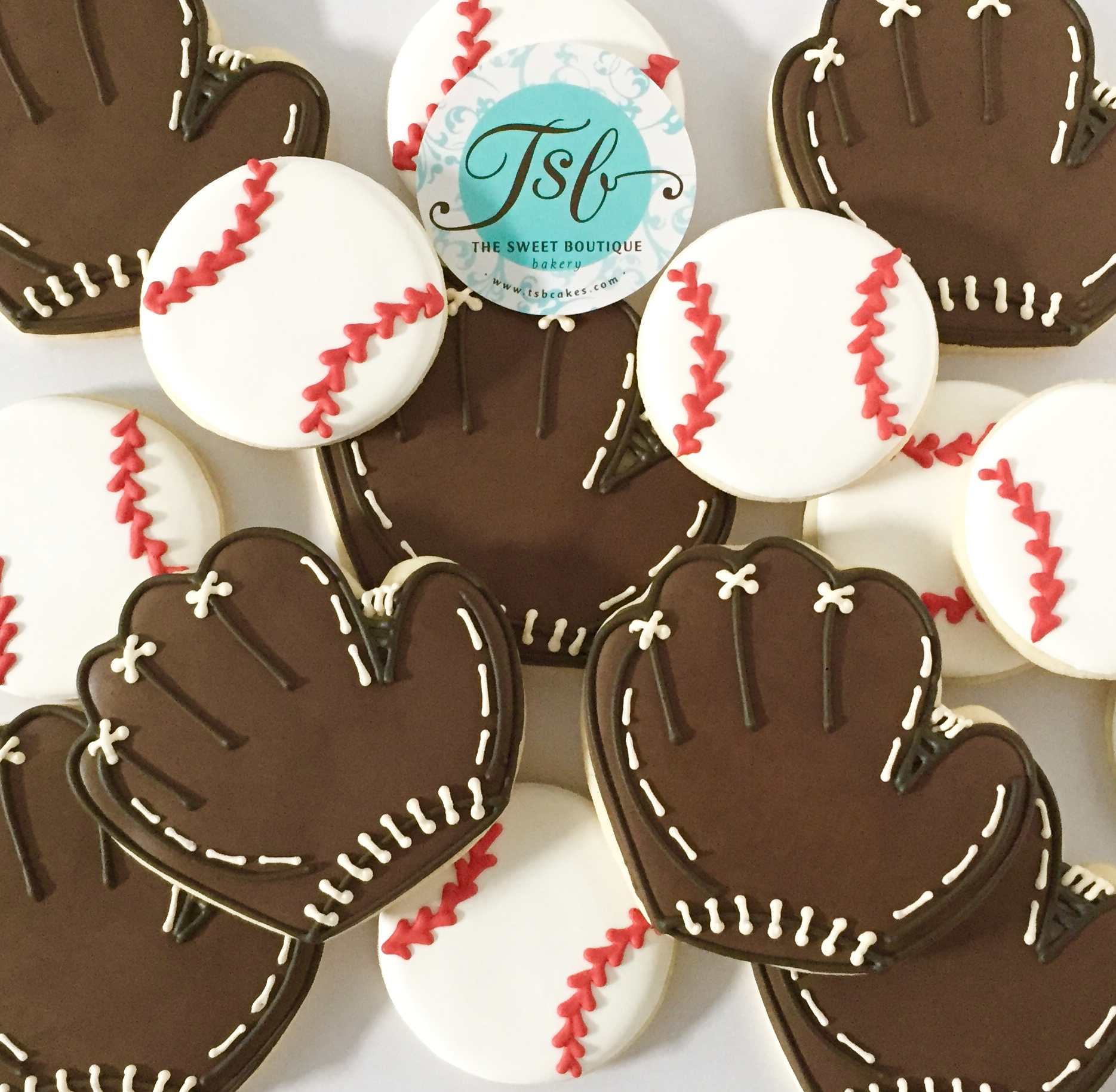 Baseball and Glove Cookies