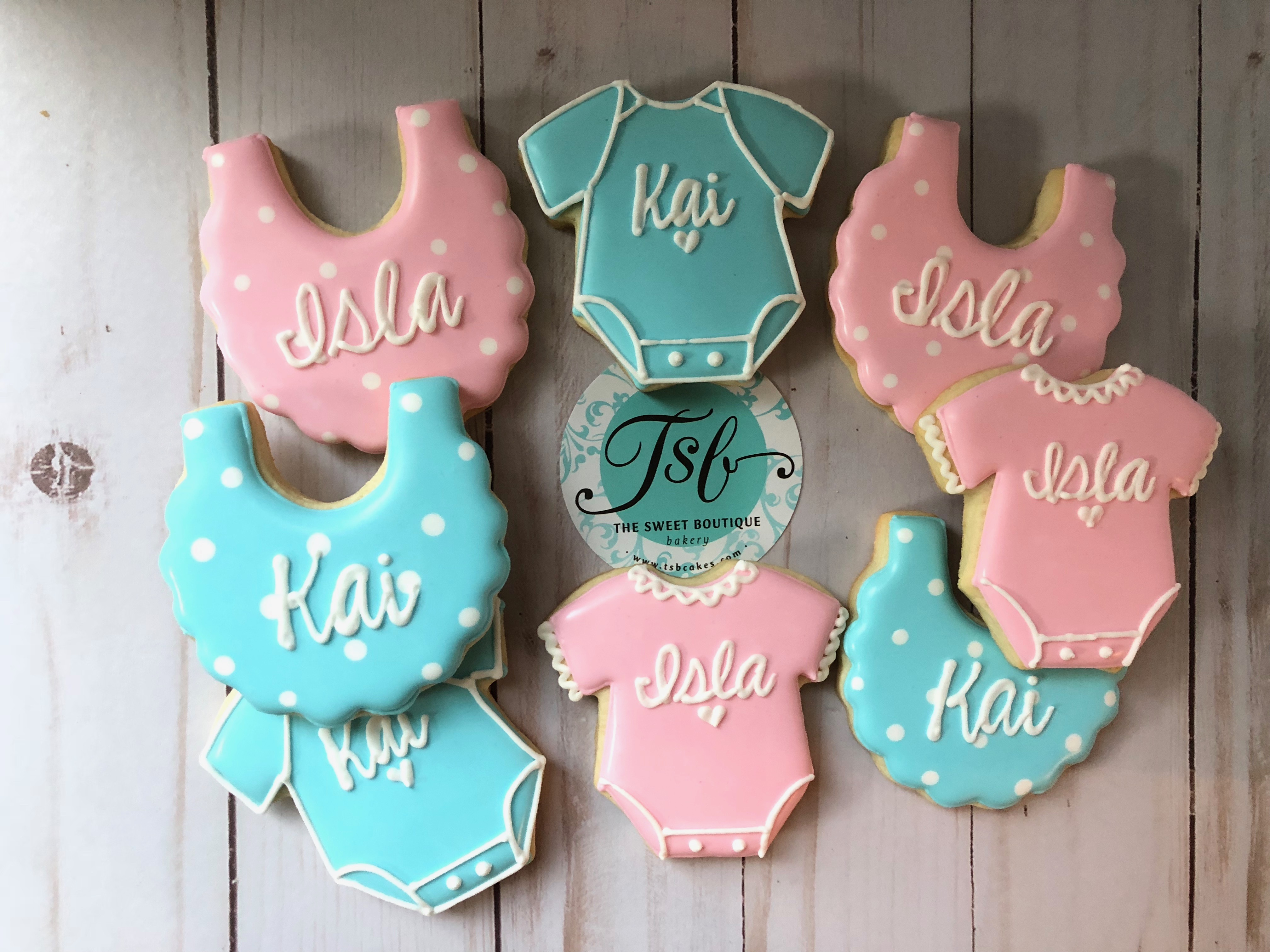 Baby Shower Bib Cookies