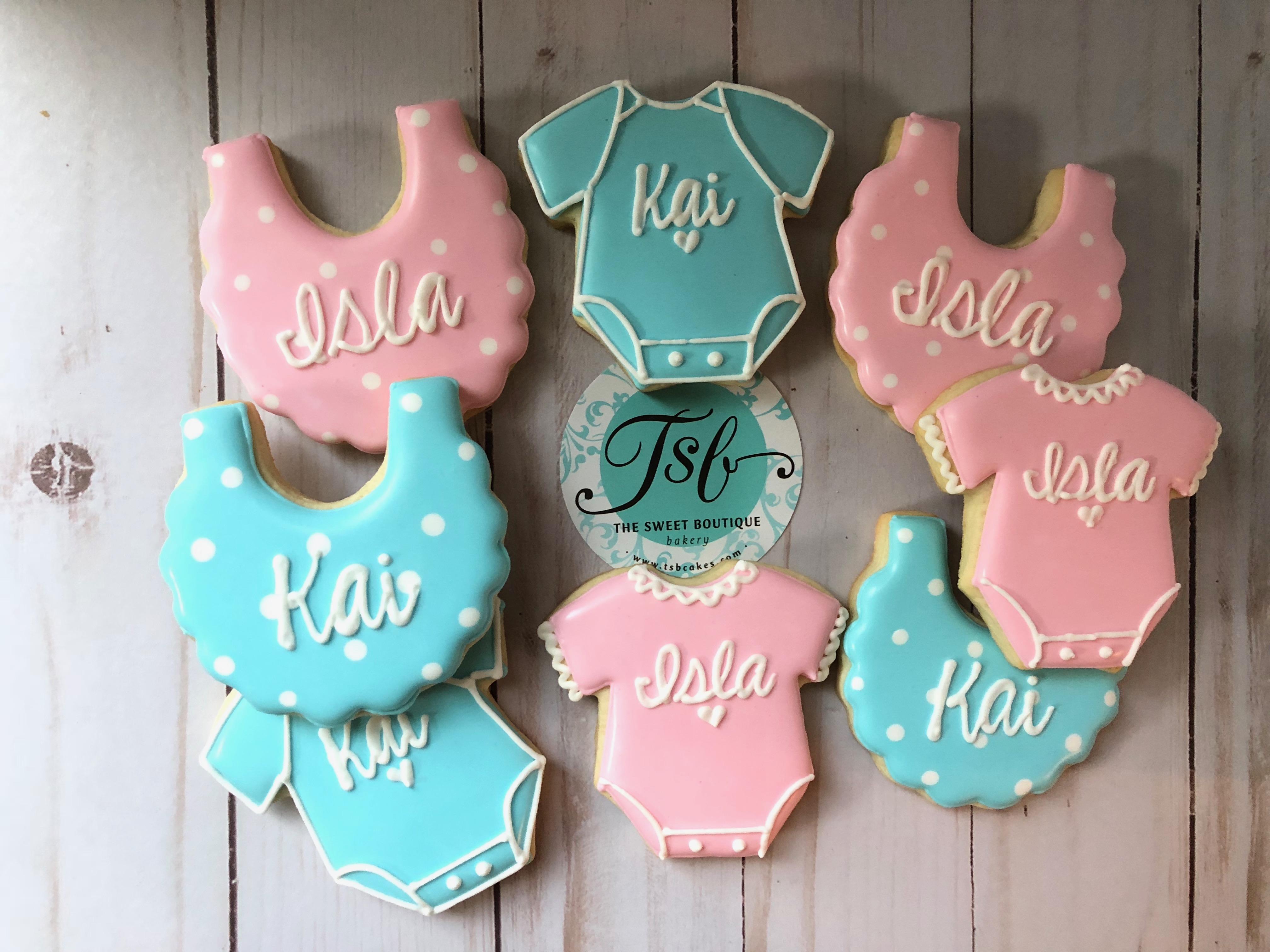 Baby Shower Bib Cookies