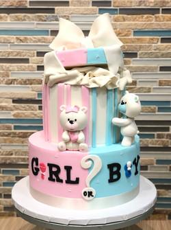 Baby Bears Gender Reveal Cake