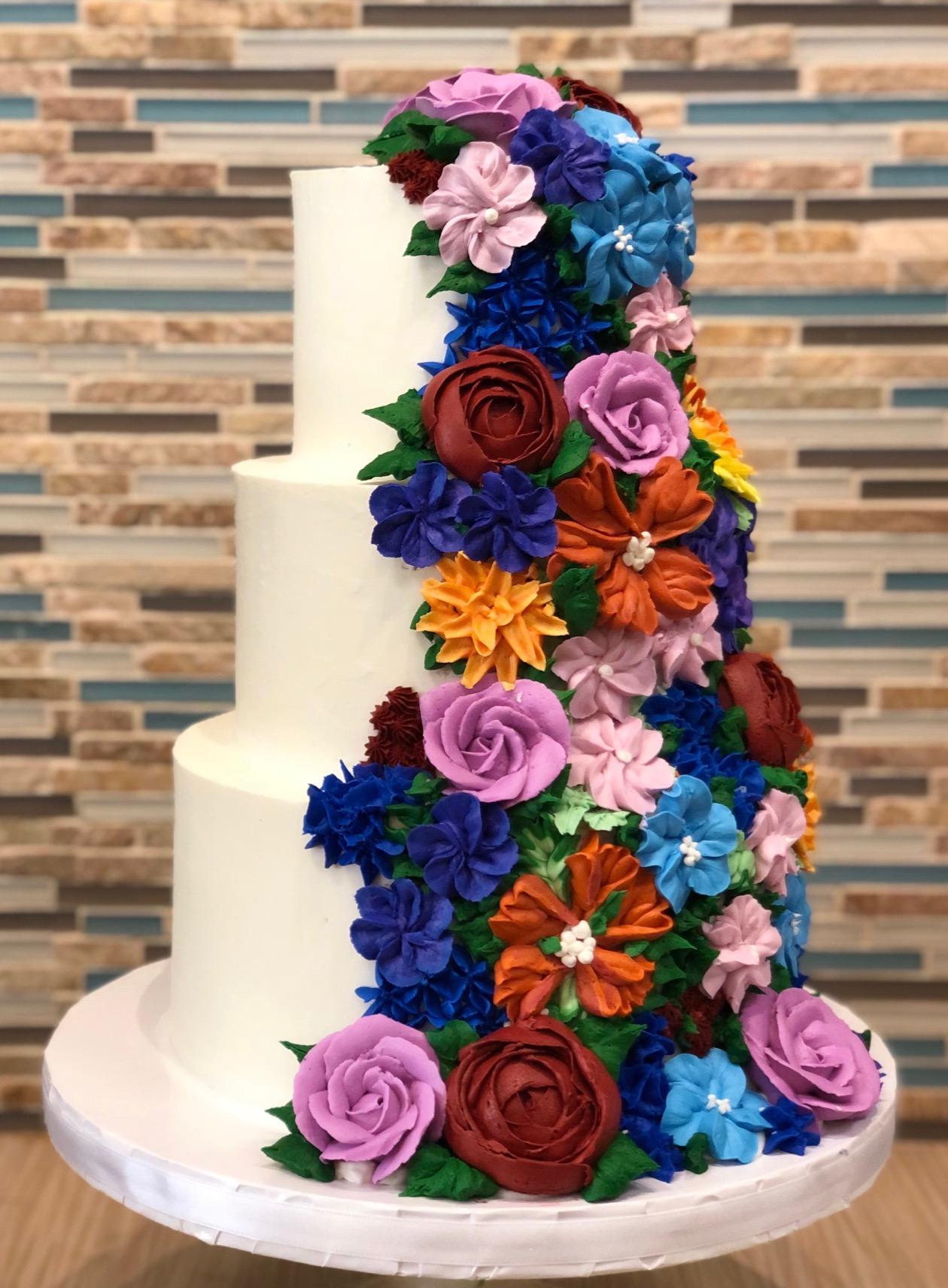 Buttercream Floral Anniversary Cake