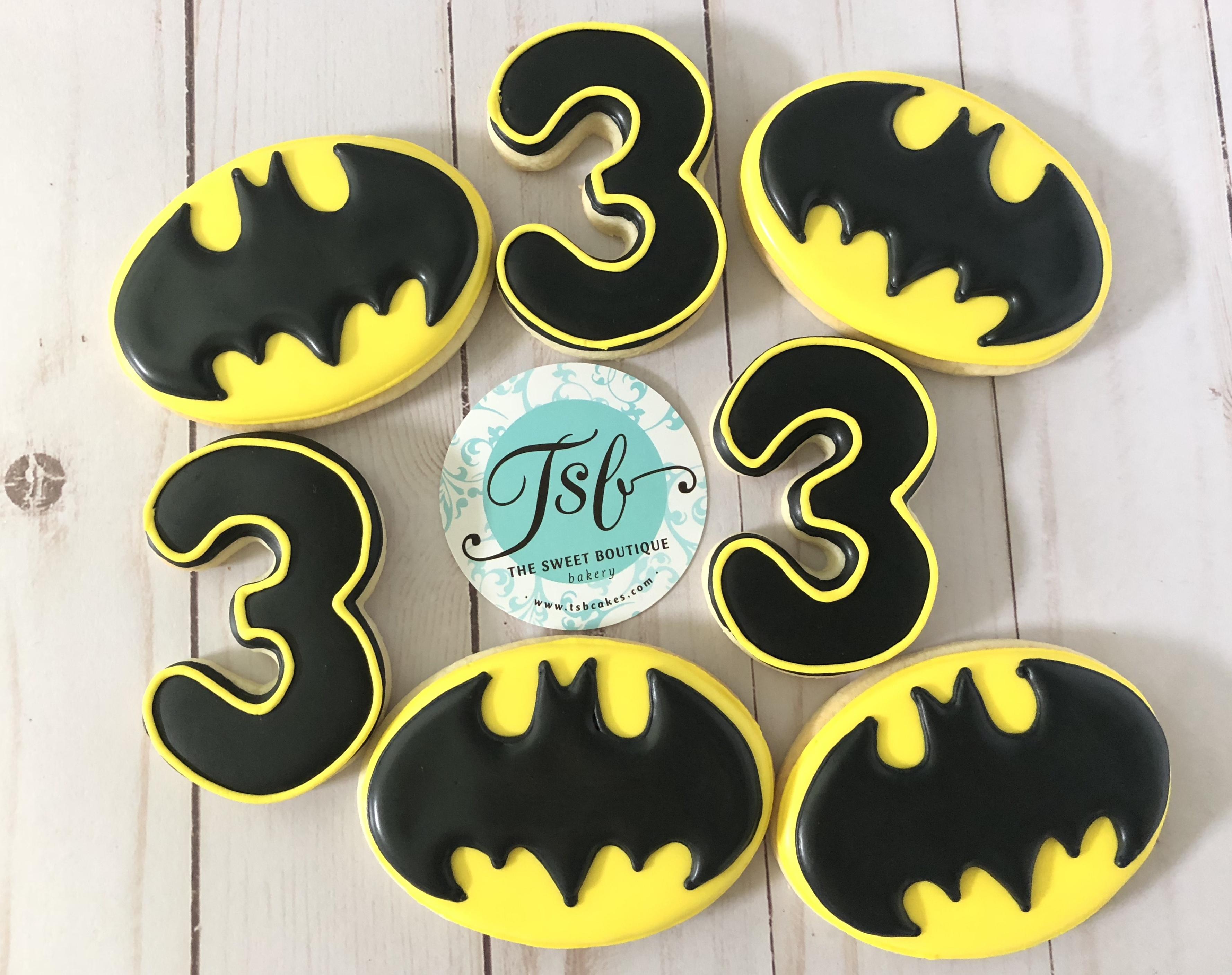 Batman Birthday Cookies