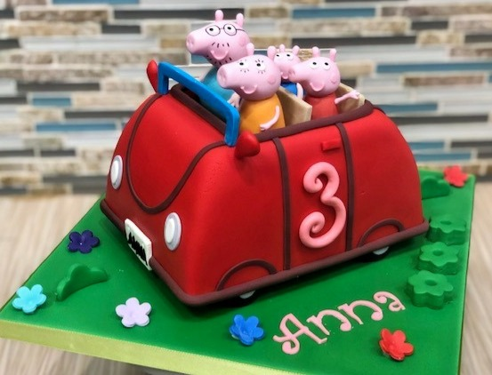 Peppa Pig Car Birthday Cake