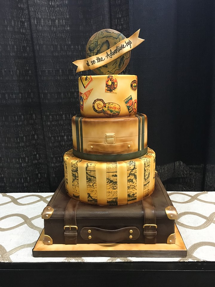 Traveling Wedding Cake Design