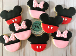 Mickey and Minie Mouse Cookies