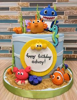 Sea Themed Birthday Cake