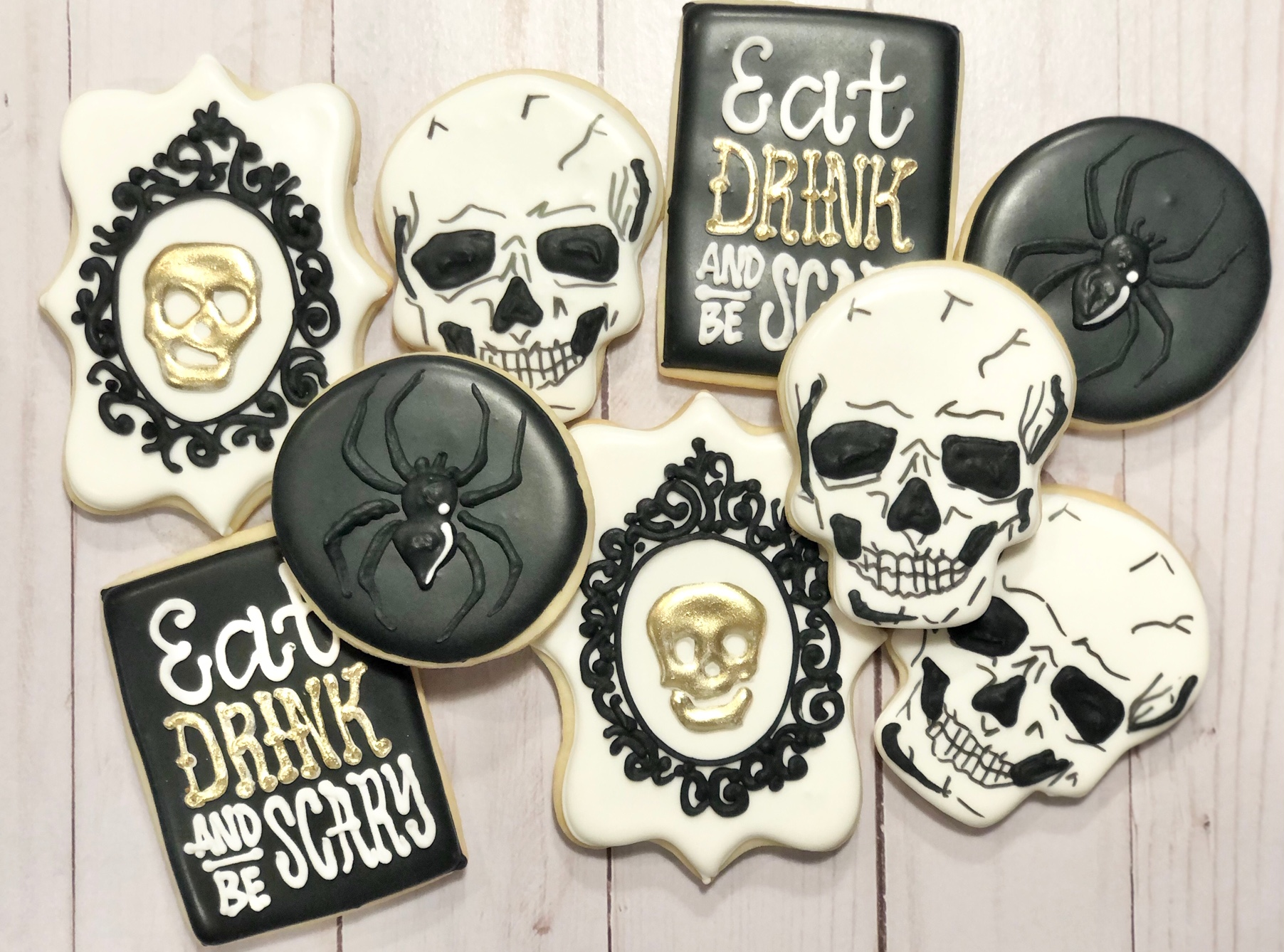 Halloween Party Custom Cookies