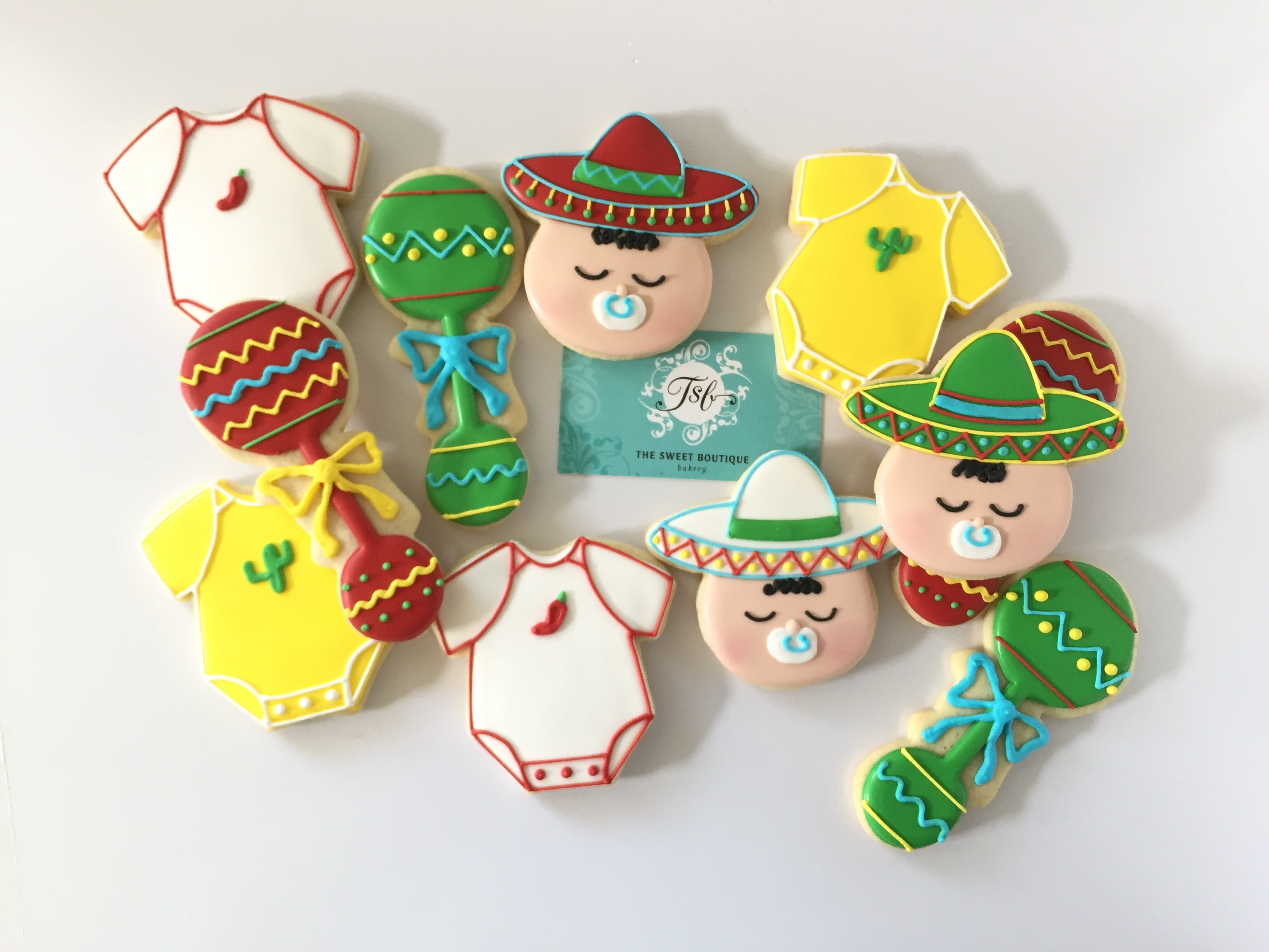 Fiesta Baby Shower Cookies