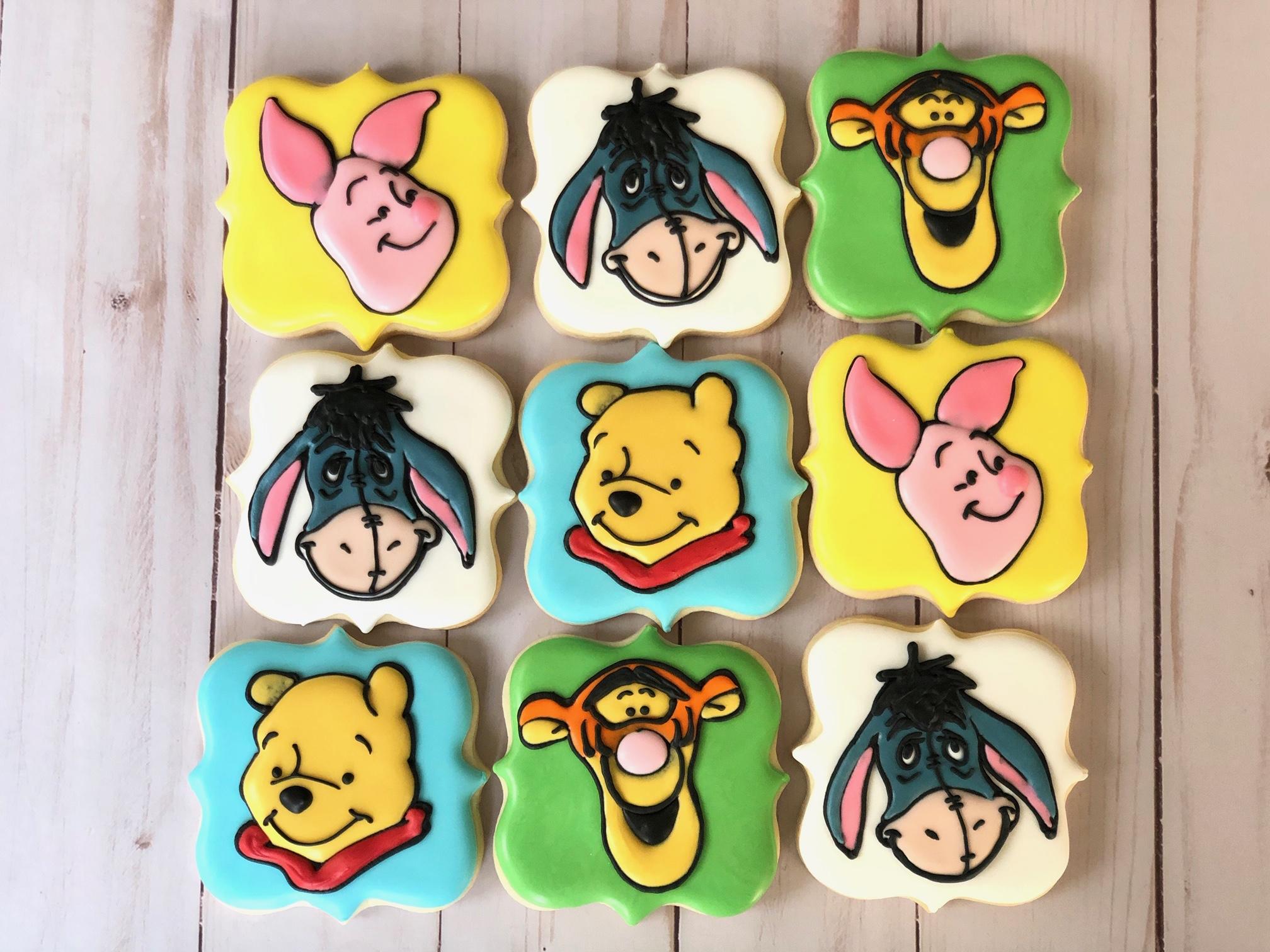 Winnie the Pooh Custom Cookies