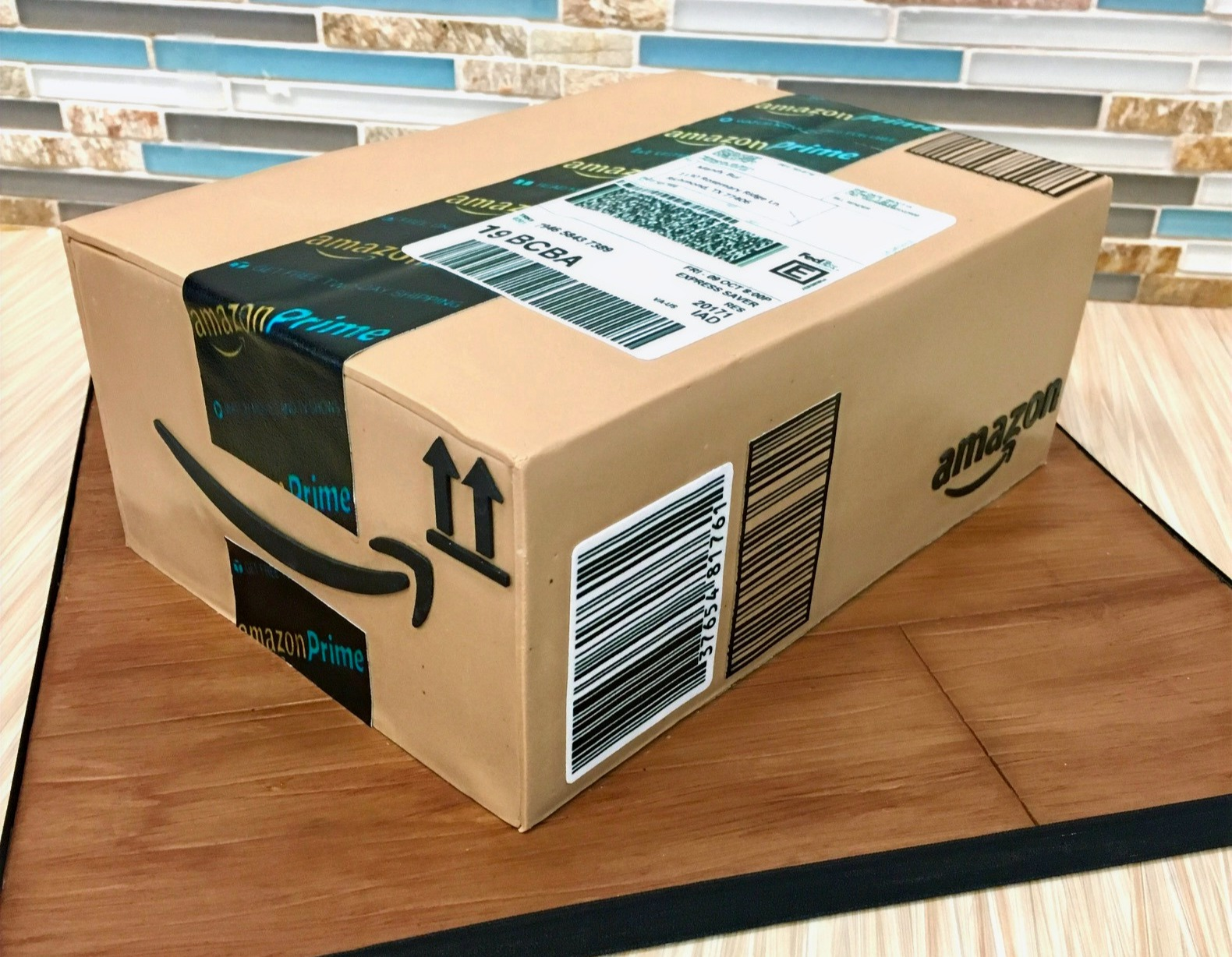 Amazon Shipping Box Cake