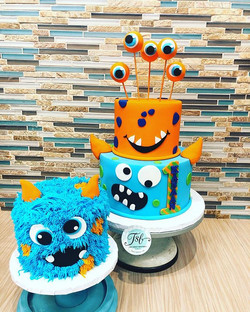 Monster bash for Kanaan's first birthday