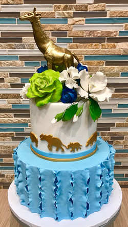 Elegant Jungle Animal Birthday Cake