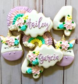 Unicorn and Rainbow Cookies