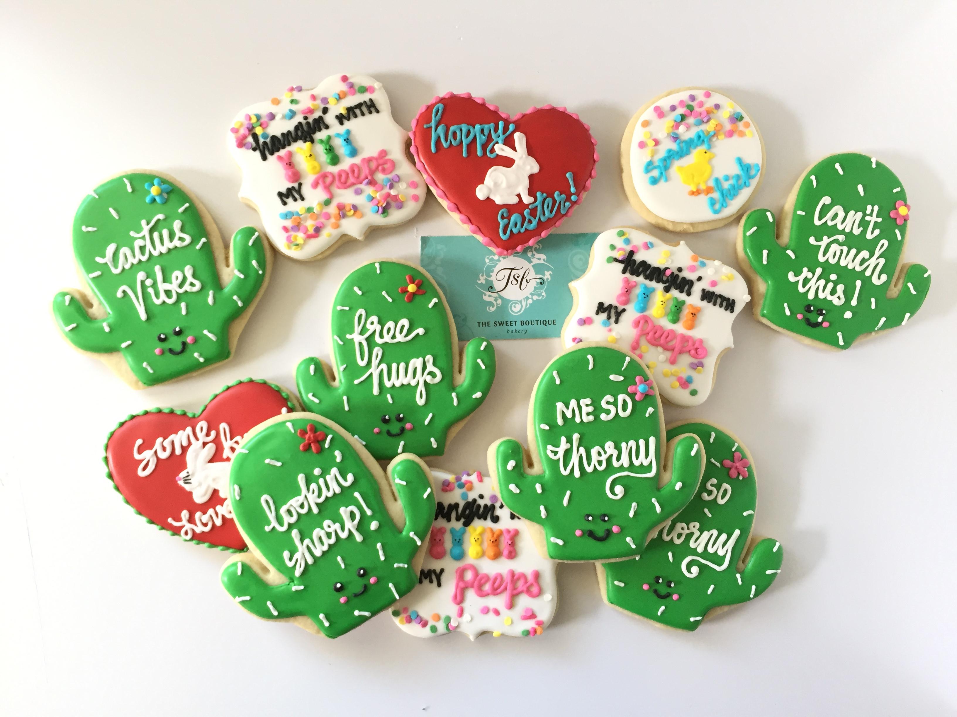 Fun Cactus Cookies