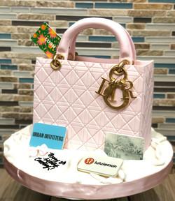 Lady Dior Purse Cake