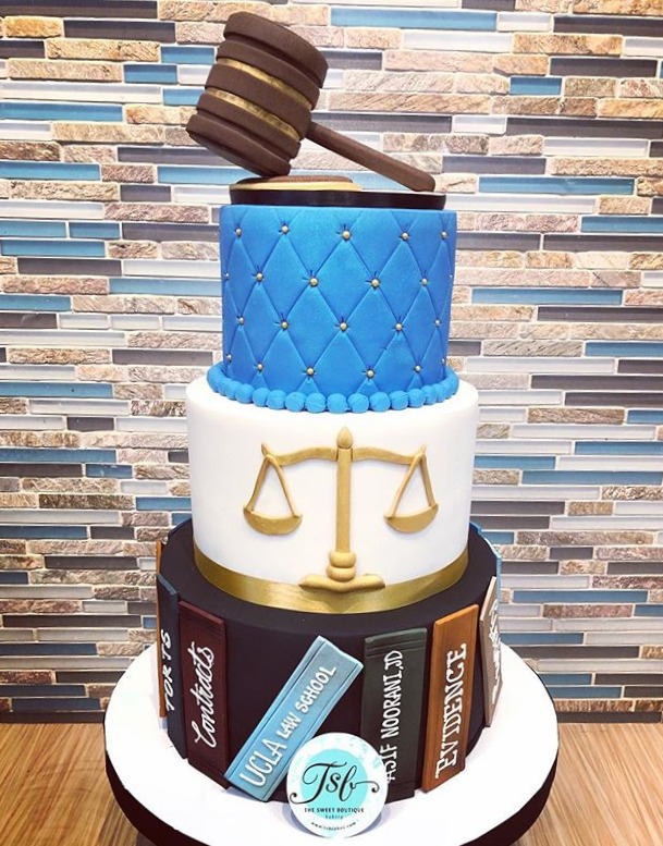 Law Degree Graduation Cake