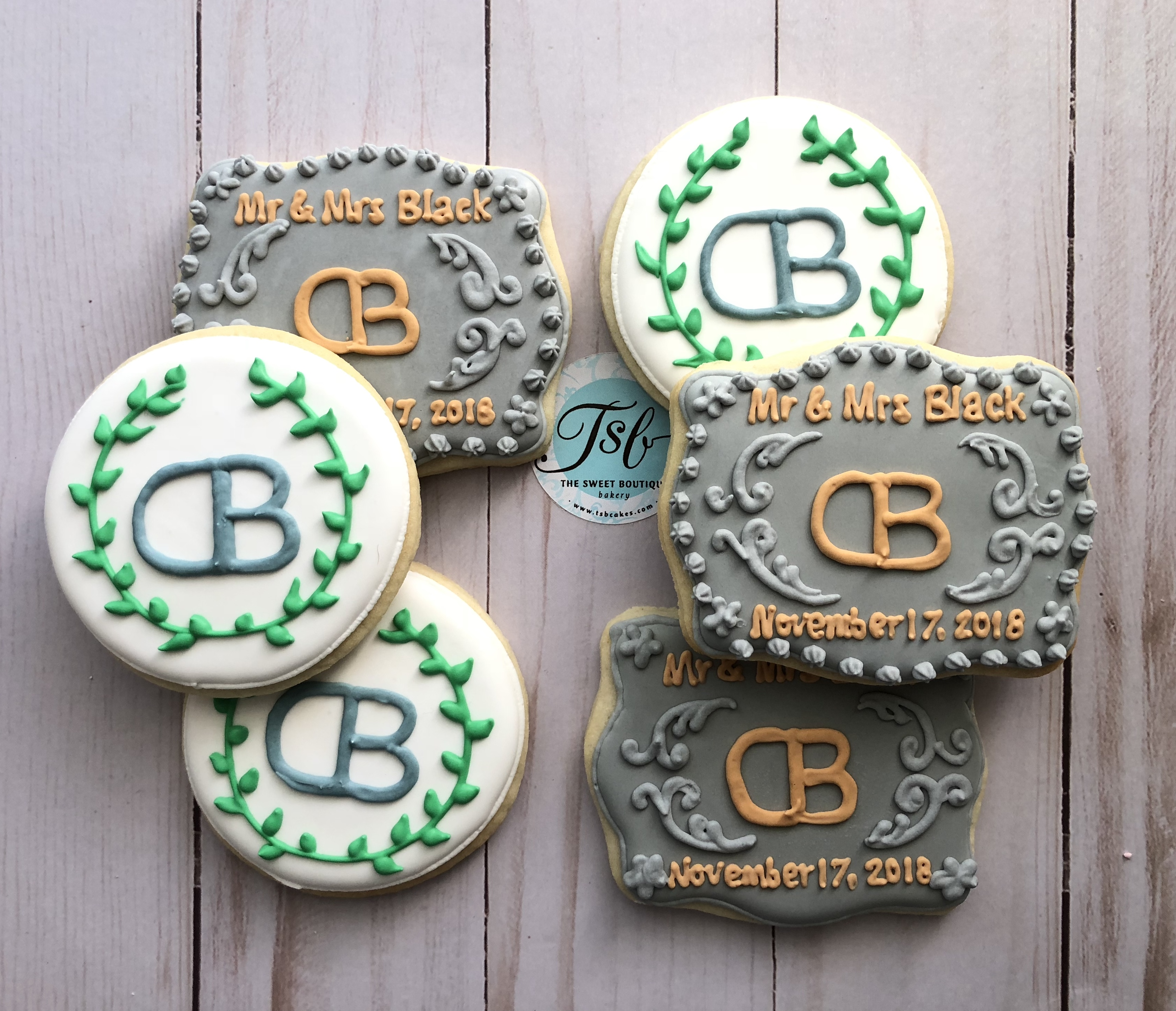 Wedding Belt Buckle Cookies
