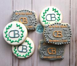 Wedding belt buckle wedding cookies