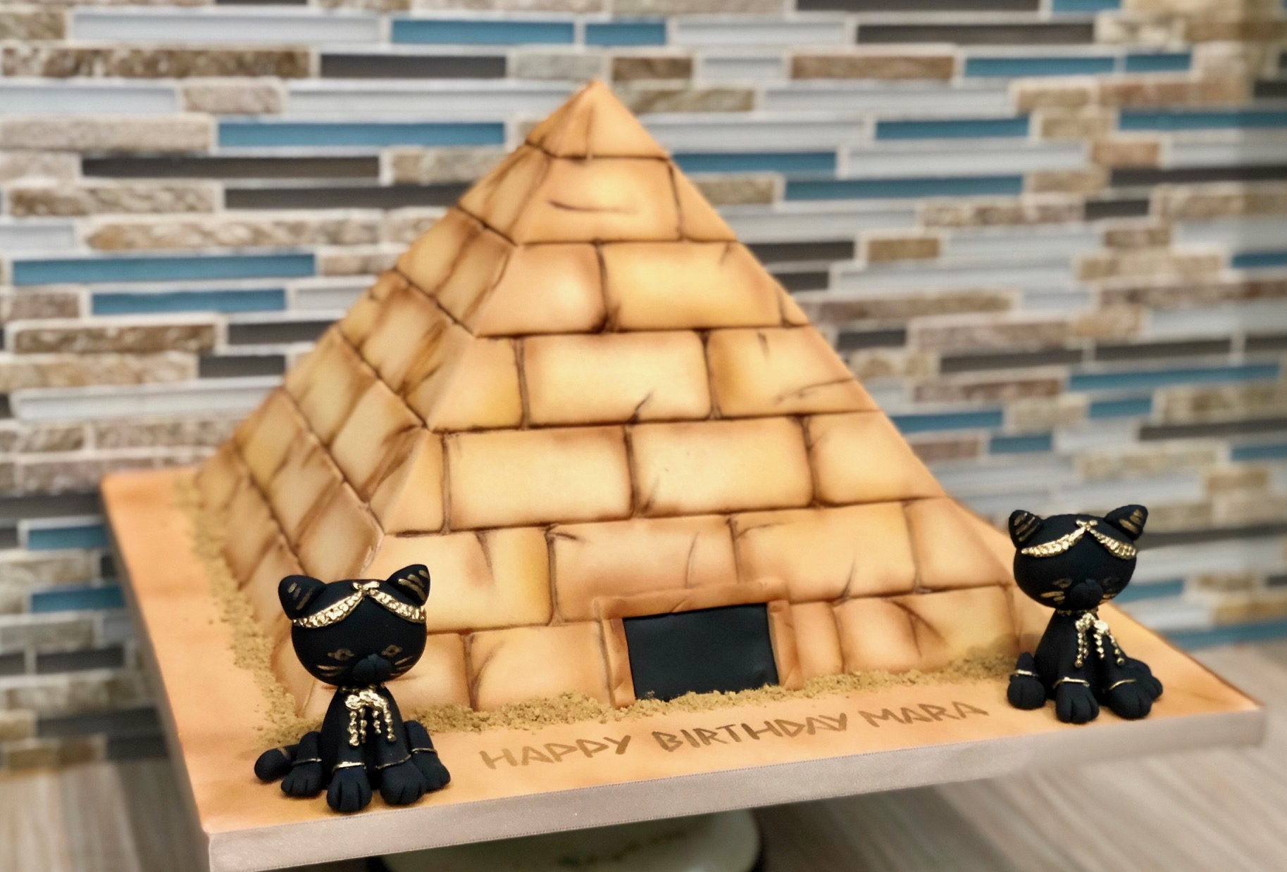 Egyptian Pyramid Birthday Cake