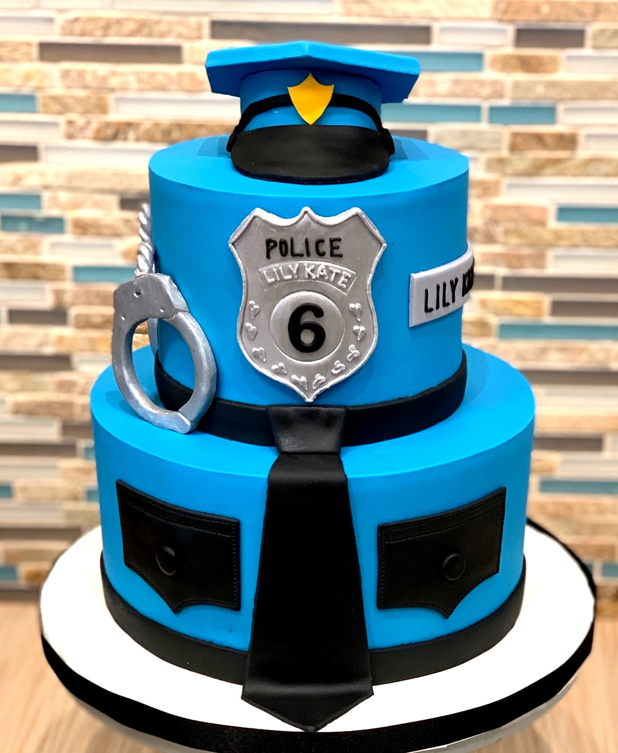 Police Themed Birthday Cake