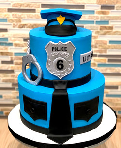 Police Themed Birthday Cake