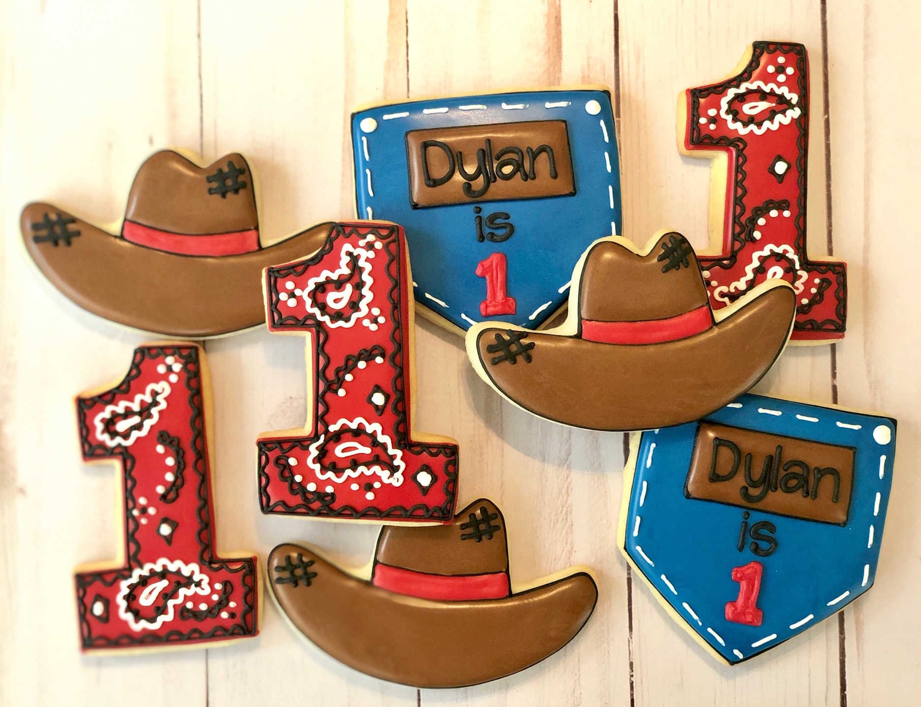 Cowboy 1st Birthday Cookies
