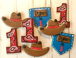 Cowboy 1st Birthday Cookies