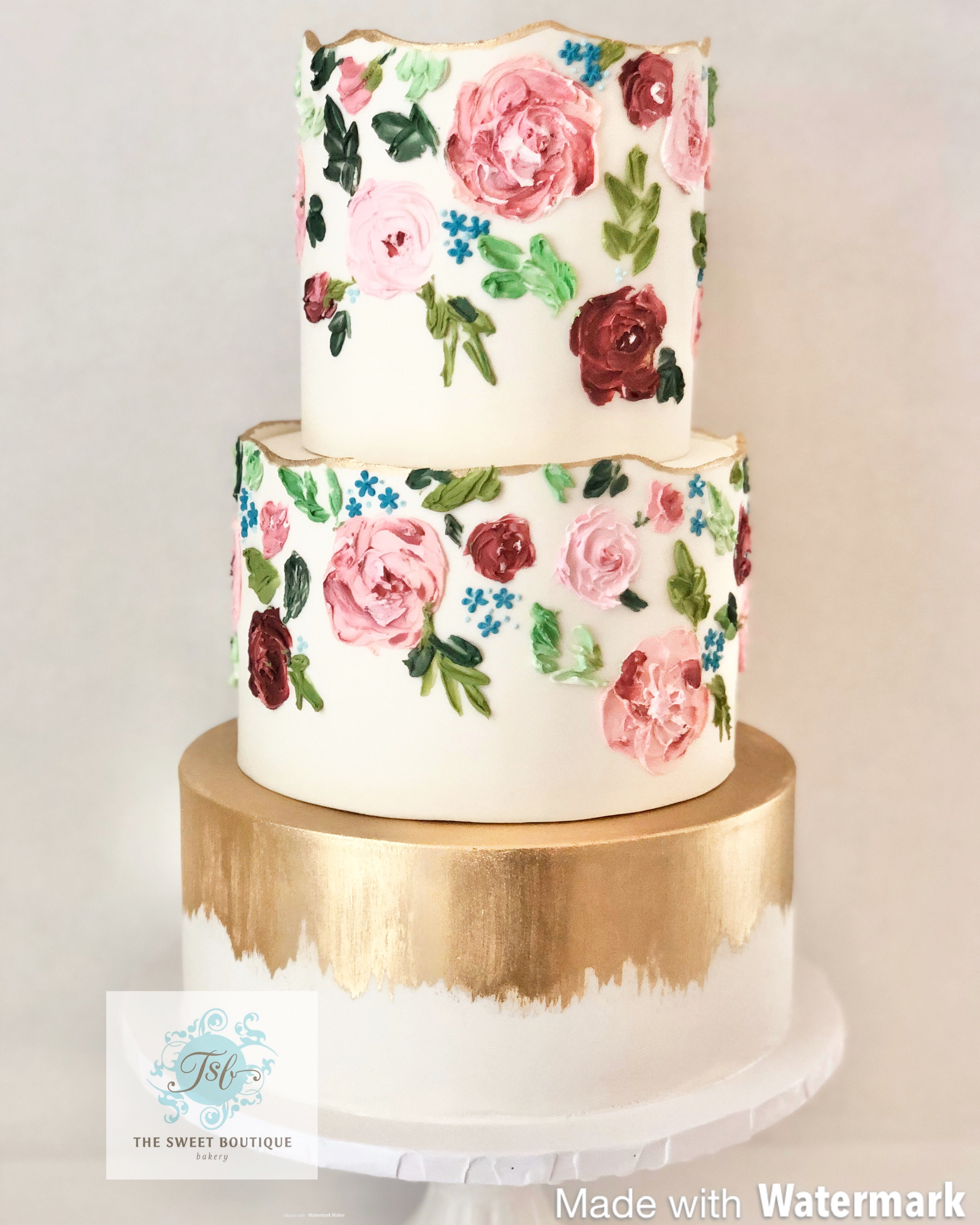 Buttercream Flowers Wedding Cake