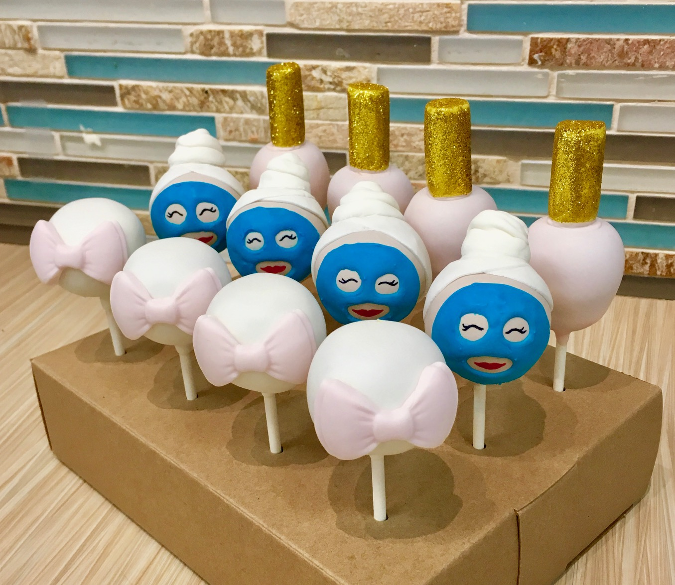 Spa Day Cake Pops