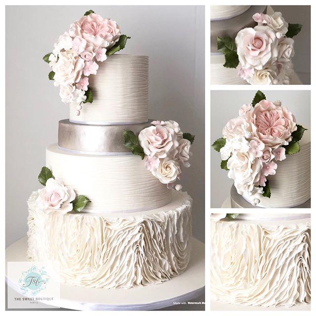 Ruffles Wedding Cake Design