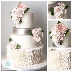 Ruffles Wedding Cake Design